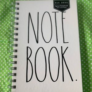 NWT Rae Dunn Spiral Bound Notebook (160 lined pgs)